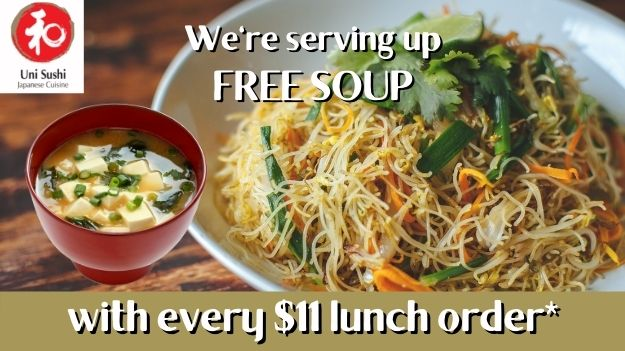 Free Soup with Every Lunch Order*